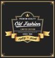 Old fashion frame and label design vector image