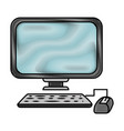 Pc technology object vector image