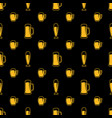 seamless beer glasses pattern vector image