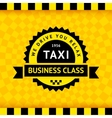 Taxi symbol with checkered background - 21 vector image