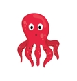 octopus sea life animal icon graphic vector image