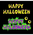 Halloween sign holiday greeting and original text vector image