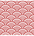 Red White Traditional Wave Japanese Chinese vector image