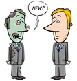 zombie businessman and new staff vector image