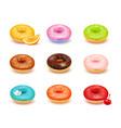 donuts assortment set vector image