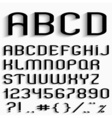 Black font with shadow vector image vector image