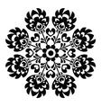 Polish round black folk art pattern - Wzory Lowick vector image