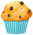 Muffin in blue cup vector image