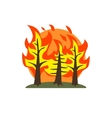 Forest Fire Natural Force Sticker vector image