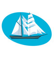 a beautiful modern sailboat frigate vector image