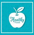 apple fresh fruit poster with healthy food pattern vector image