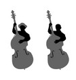 boy contrabassist vector image