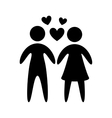 boyfriends silhouette design vector image