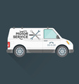 emergency motor service car vector image