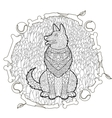 High detail patterned German shepherd vector image