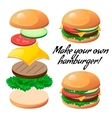 make burger vector image