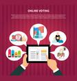 online voting in elections vector image