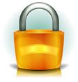 padlock security icon vector image