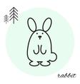rabbit thin line icon vector image
