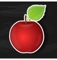 Red apple isolated on black background vector image