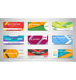 Set of gift vouchers material design vector image