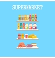 Shelfs with products vector image