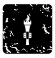 Torch icon grunge style vector image