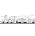 outline silhouette of the city vector image
