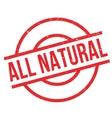 All Natural rubber stamp vector image