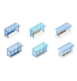 Isometric Bus stop on the white background Public vector image