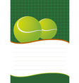 Tennis background design vector image vector image