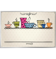 retro frame with cup vector image vector image