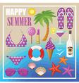 Summer beach set vector image