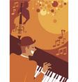 jazz evening vector image vector image
