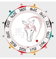 Chinese Zodiac Horse vector image