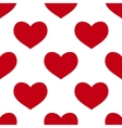 seamless red heart vector image vector image