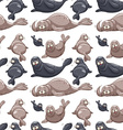 Seamless background with seals vector image