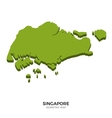 Isometric map of Singapore detailed vector image