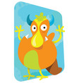 cartoon monster cute and funny looking broad vector image