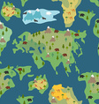 Continents seamless pattern World map is endless vector image
