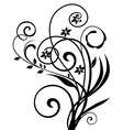 Floral ornament vintage vector image