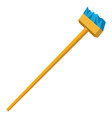 Funny cartoon of mop and broom isolated cleaning vector image