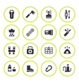 Set round icons of camping vector image