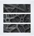 templates banners with interwoven cobwebs from vector image