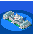 Election Infographic Capitol Dome Isometric vector image