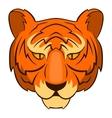 Tiger head icon cartoon style vector image