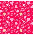 Valentines day Love Doodle Floral seamless Pattern vector image vector image