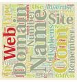 How To Pick A Web Site Domain Name For Your vector image
