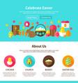celebrate easter web design vector image