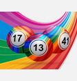 stiped bingo balls background vector image vector image